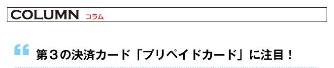 第3の決済カード「プリペイドカード」に注目!